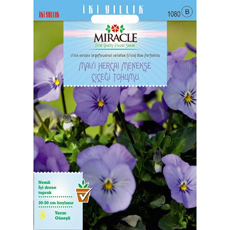 Miracle Blue Perfection Mavi Hercai Menekşe Çiçeği Tohumu - 150 Tohum
