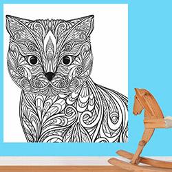 K Dekorasyon KDB1018 Boyanabilir Duvar Kağıdı (Kalem Hediyeli) - 0,9 m²
