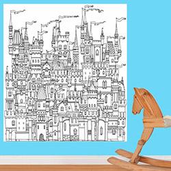 K Dekorasyon KDB1032 Boyanabilir Duvar Kağıdı (Kalem Hediyeli) - 0,9 m²