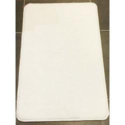 Verteks Velvet 01 Dekoratif Banyo Paspası (Beyaz) - 50x80 cm