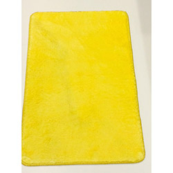 Verteks Velvet 08 Dekoratif Banyo Paspası (Sarı) - 50x80 cm