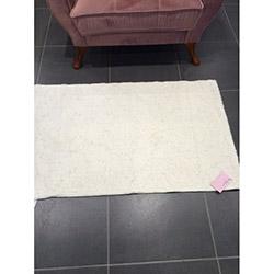 Verteks Doğal Pamuk Halı (Beyaz) - 70x120 cm