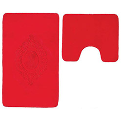 Verteks Madalyon 2'li Klozet Takımı - Kırmızı