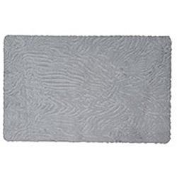 Verteks Ultrasoft Zebra Desen  Banyo Halısı (Gri) - 60x100 cm