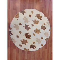 Verteks Comfort 5591 Yuvarlak Banyo Halısı (Kahve) - 100x100 cm