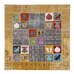 Verteks 334 Etnik  Patchwork Halı - 80x150 cm