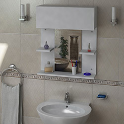 House Line Morgan Banyo Üst Dolabı - Beyaz