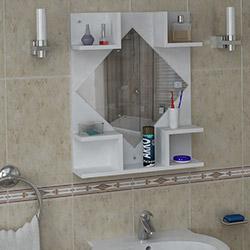 House Line Trileçe Banyo Etajeri - Beyaz