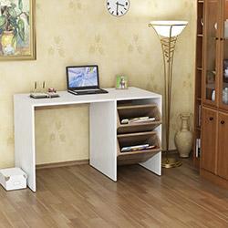 House Line Ladle Çalışma Masası - Beyaz / Ceviz