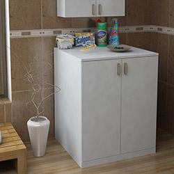 House Line Dolunay Çamaşır Makinesi Alt Dolap - Beyaz