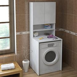 House Line Venüs Çamaşır Makinesi Dolap Seti - Beyaz