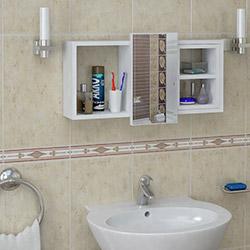 House Line Cansel Banyo Etajer - Beyaz
