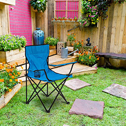 Comfy Home Katlanır Bahçe Sandalyesi Mavi