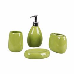 Simple Living 103G 4'lü Banyo Seti - Yeşil