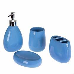 Simple Living 103B 4'lü Banyo Seti - Mavi