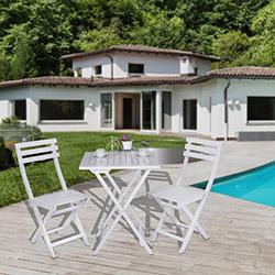 Simple Living Bahçe Masa Takımı - Beyaz