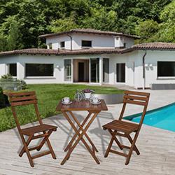 Simple Living Bahçe Masa Takımı - Ceviz