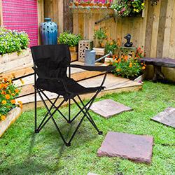 Comfy Home Katlanır Bahçe Sandalyesi - Siyah