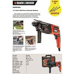 Black&Decker KD860KA 1,6J Kırıcı Delici - 600 Watt
