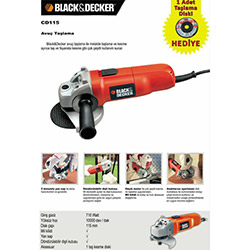 Black&Decker CD115 Avuç Taşlama - 710 Watt