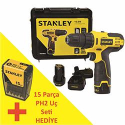 Stanley STCD1081B2 Çift Akülü Profesyonel Vidalama