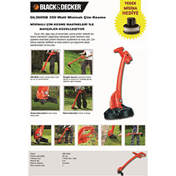 Black&Decker GL360SB Misinalı Çim Kesme Makineleri
