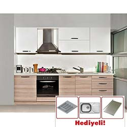 Kenyap Deep Highgloss Pvc Kapaklı Mutfak - Cordoba&Parlak Beyaz