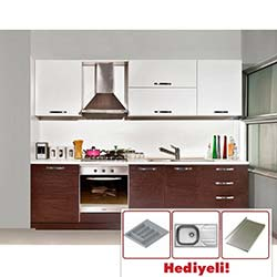 Kenyap İntense Highgloss Pvc Kapaklı Mutfak - Venge&Parlak Beyaz