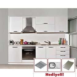 Kenyap Force Highgloss Pvc Kapaklı Mutfak - Parlak Beyaz