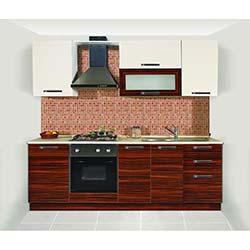 Kenyap Complex Highgloss Pvc Kapaklı Mutfak - Parlak Beyaz&Parlak Abanoz