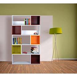 Kenyap Renkli Kutulu Kitaplık - Beyaz-Renkli