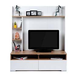 Kenyap Deco Arkası Panelli Tv Ünitesi-Samba&Beyaz