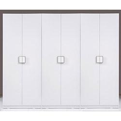 Kenyap Plus Stella 6 Kapılı 3 Çekmeceli Sonsuz Gardırop - Parlak Beyaz