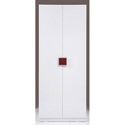 Kenyap Plus Stella 3 Çekmeceli 2 Kapılı Sonsuz Gardırop - Parlak Beyaz / Bordo