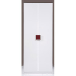 Kenyap Plus Stella 812560 2 Kapılı Sonsuz Gardırop - Parlak Beyaz / Bordo