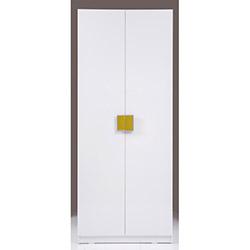 Kenyap Plus Stella 812829 2 Kapılı Sonsuz Gardırop - Parlak Beyaz / Yeşil