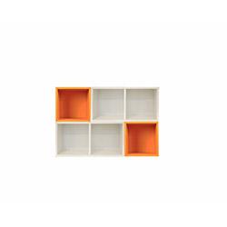 Kenyap (815110) Kompozisyon Kitaplık - Turuncu / Beyaz