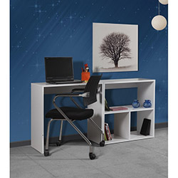 Kenyap 819705 Lissa Kısa Kitaplıklı Çalışma Masası - Beyaz