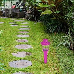 Comfy Home Bahçe Meşalesi (Mor) - 85x85x355 mm