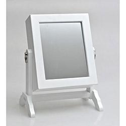 Form Aynalı Takı Dolabı - Beyaz