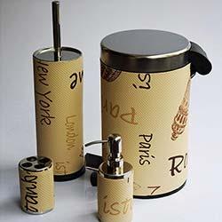 Kılıç Yedi Şiehir 4'lü Banyo Seti - Açık Kahve