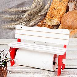 Kılıç 9586 Ahşap Kağıt Havluluk (Kırmızı/Beyaz) - 32x21 cm