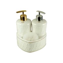 Bone China Bny-516 2 Pompalı Sıvı Sabunluk