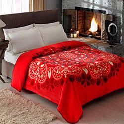 Taç Karina Çift Kişilik Battaniye - Kırmızı