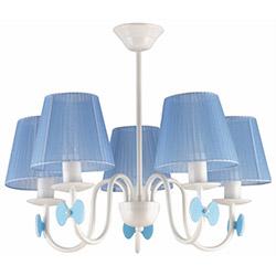 Safir Light Samara 5'Li Avize - Mavi