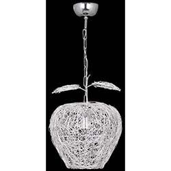 Safir Light Elma Tekli Sarkıt Gümüş