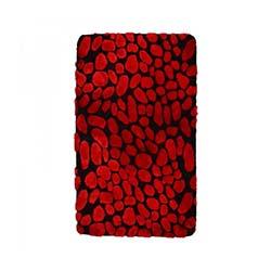 Liviadora Taş Banyo Halısı - Siyah-Kırmızı