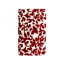 Liviadora Yaprak Banyo Halısı - Kırmızı