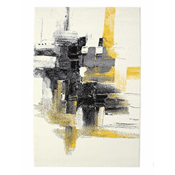 Poypoy PP524d Modern Halı (Sarı/Siyah) - 160x230 cm