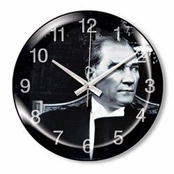 Clocktime CT64 Dekoratif Bombeli Cam Duvar Saati - 35 cm